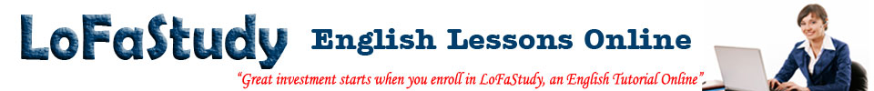 Great investment starts when you enroll in LoFaStudy, an English Online Tutorial Service